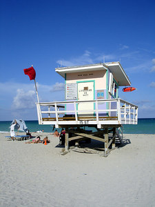 15th St. Lifeguard stand - Miami Beach, FL ... September 18, 2005 ... Photo by Rob Page III