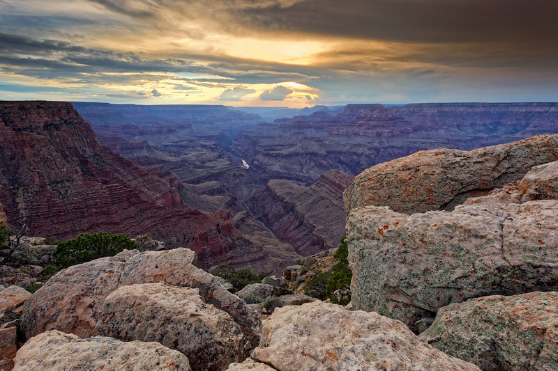 Sunset view from Lipan Point,at Grand Canyon South Rim