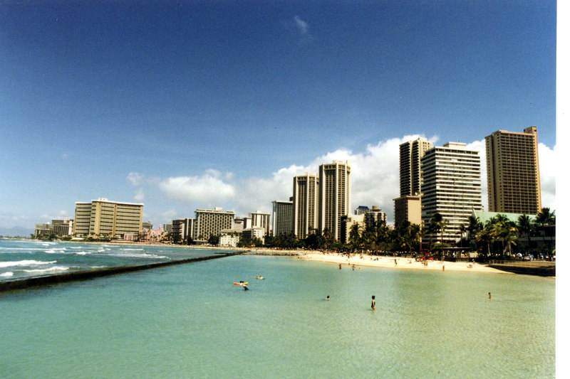 April 1999. Honolulu, Waikiki