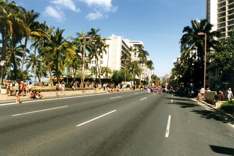 April 1999. Honolulu street parade