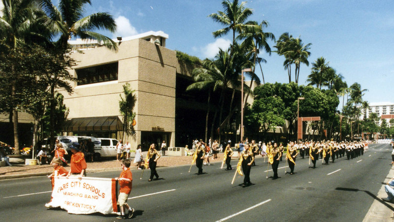 April 1999. Honolulu, street parade