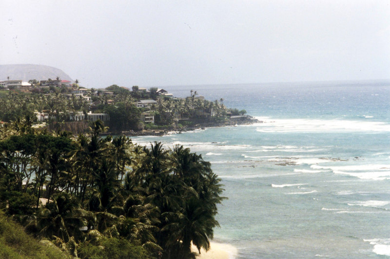April 1999. Honolulu, Diamond Head