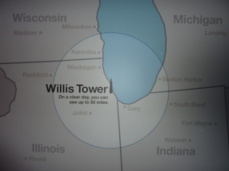 Willis Tower View Map