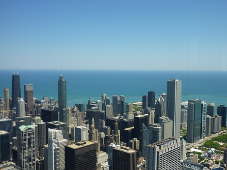 View of Chicago from Skydeck