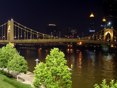 Roberto Clemente Bridge - Pittsburgh, PA ... June 11, 2005 ... Photo by Rob Page III