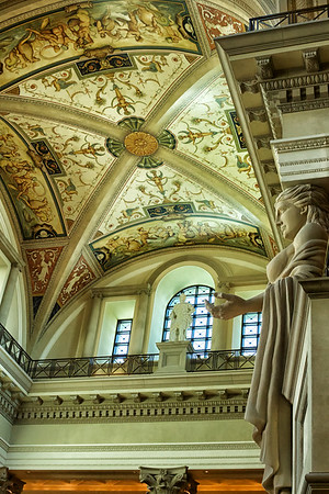 Modest emporium with frescoes at Caesars Palace, Las Vegas
