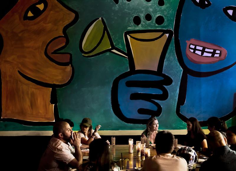 Big Heads, Border Grill, Santa Monica, CA