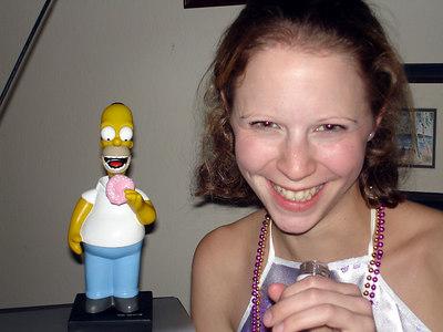 Homer and Emily enjoying the SLA TFA New Year's Party - Baton Rouge, LA ... December 17, 2005