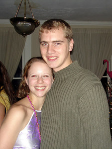 Emily Conger and Rob Page enjoying the SLA TFA New Year's Party - Baton Rouge, LA ... December 17, 2005