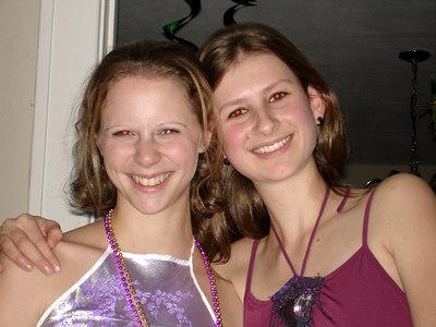Emily Conger and Sarah Payne enjoying the SLA TFA New Year's Party - Baton Rouge, LA ... December 17, 2005