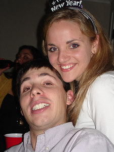 Hunter Brown and Josie Delaune enjoying the SLA TFA New Year's Party - Baton Rouge, LA ... December 17, 2005