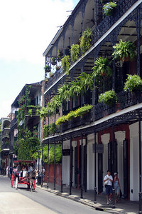A street in the French Quarter - New Orleans, LA ... August 6, 2005 ... Photo by Rob Page III