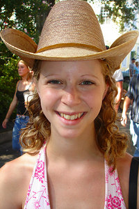 Cowboy Emily - New Orleans, LA ... August 6, 2005 ... Photo by Rob Page III