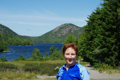Cindy at Jordan Pond