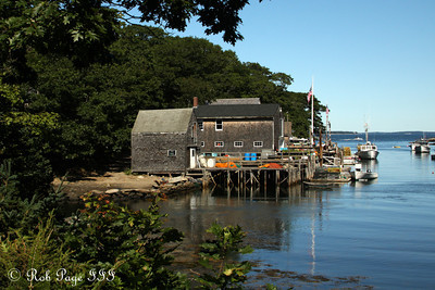 A small, hidden lobstering community off of Back Cove - Pemaquid, ME ... September 6, 2009 ... Photo by Rob Page III