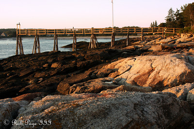 The neighbor's pier - Pemaquid, ME ... September 5, 2009 ... Photo by Rob Page III