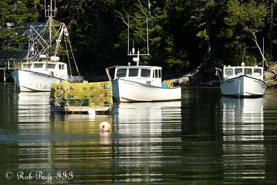 Lobster boats ready to put out to sea - Pemaquid, ME ... September 6, 2009 ... Photo by Rob Page III