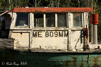An old fishing boat in for repairs - Pemaquid, ME ... September 6, 2009 ... Photo by Rob Page III