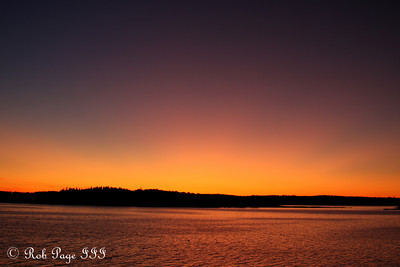 Sunset from the Conger's house - Pemaquid, ME ... September 6, 2009 ... Photo by Rob Page III