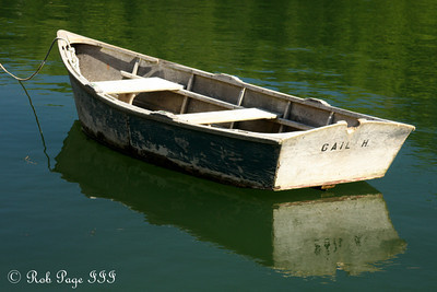 A lonely row boat - Pemaquid, ME ... September 6, 2009 ... Photo by Rob Page III