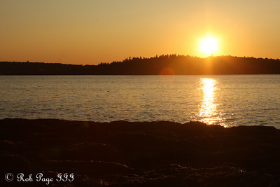 Sunset from the back porch - Pemaquid, ME ... September 5, 2009 ... Photo by Rob Page III