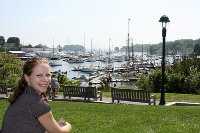 Emily, enjoying the beautiful day - Camden, ME ... August 30, 2008 ... Photo by Rob Page III