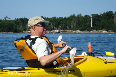 Dad Conger enjoying the sea air - Pemaquid, ME ... September 5, 2009 ... Photo by Rob Page III