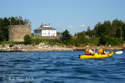 Bob and Maggie with Fort William Henry in the background - Pemaquid, ME ... September 5, 2009 ... Photo by Rob Page III