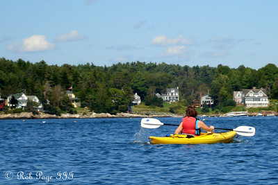 Jen out for an afternoon paddle - Pemaquid, ME ... September 5, 2009 ... Photo by Rob Page III