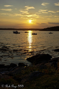 Sunset - New Harbor, ME ... August 30, 2013 ... Photo by Rob Page III