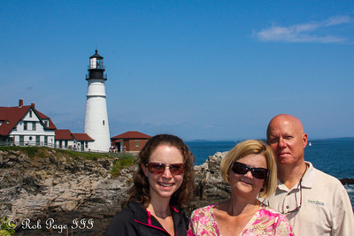 The Conger family at the Portland Head Lighthouse - Portland, ME ... August 30, 2013 ... Photo by Rob Page III