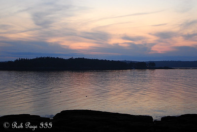 Sunset over New Harbor from the Conger's back porch on Pemaquid Trail - Pemaquid, ME ... August 26, 2006 ... Photo by Rob Page III
