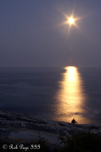Moonrise - Pemaquid, ME ... September 4, 2009 ... Photo by Rob Page III