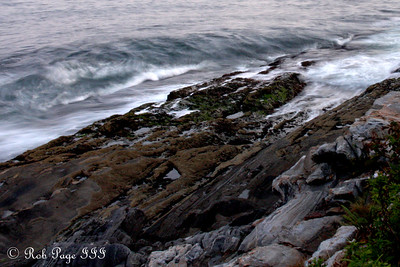 Waves crashing below the Pemaquid Lighthouse - Pemaquid, ME ... September 4, 2009 ... Photo by Rob Page III
