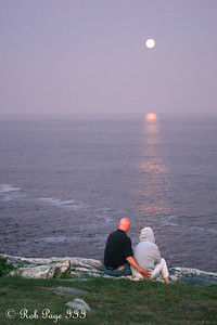 Mom and Dad Conger watch the moon rise - Pemaquid, ME ... September 4, 2009 ... Photo by Rob Page III