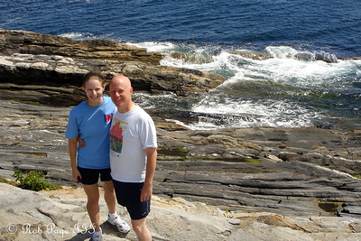 Emily and her papa - Pemaquid, ME ... September 1, 2007 ... Photo by Rob Page III