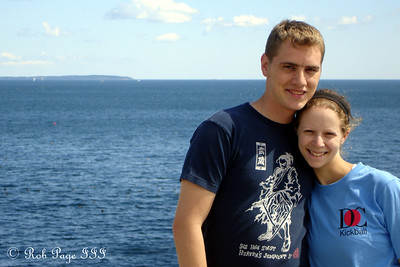Rob and Emily - Pemaquid, ME ... September 1, 2007 ... Photo by Bob Conger