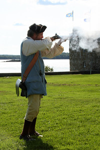 Firing an old fashioned musket - Pemaquid, ME ... August 31, 2008 ... Photo by Rob Page III