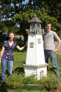 This is one of the best street lamps that I have ever seen - Pemaquid, ME ... August 31, 2008 ... Photo by Bob Conger