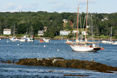 Boats in the harbor - Pemaquid, ME ... August 31, 2008 ... Photo by Rob Page III