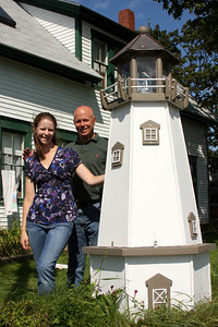 Enjoying a nice father-daughter moment on a beautiful day - Pemaquid, ME ... August 31, 2008 ... Photo by Rob Page III