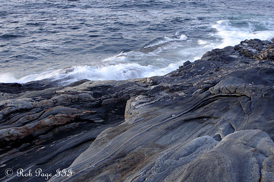 Waves crashing against the shore - Pemaquid, ME ... September 3, 2007 ... Photo by Rob Page III