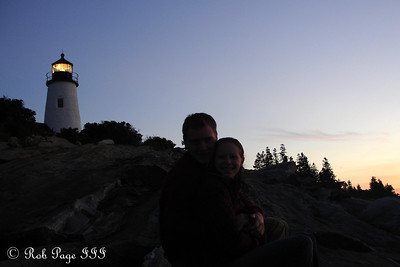 Rob and Emily at the Pemaquid Lighthouse.  I forgot the flash - Pemaquid, ME ... September 3, 2007 ... Photo by Rob Page III