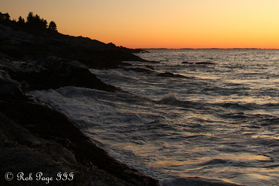 The water boils as a new day arrives - Pemaquid, ME ... September 6, 2009 ... Photo by Rob Page III