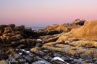 Sunrise along the seashore - Pemaquid, ME ... September 6, 2009 ... Photo by Rob Page III