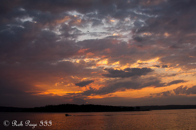 Sunset - New Harbor, ME ... September 1, 2013 ... Photo by Rob Page III