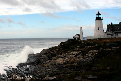 The Atlantic churns from Hurricane Earl - Pemaquid, ME ... September 4, 2010 ... Photo by Rob Page III