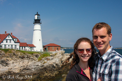 Rob and Emily at the Portland Head Lighthouse - Portland, ME ... August 30, 2013 ... Photo by Bob Conger