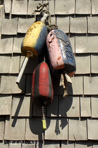 Old lobster floats - Boothbay, ME ... September 2, 2007 ... Photo by Rob Page III