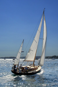 Sailing out to sea - Boothbay, ME ... September 2, 2007 ... Photo by Rob Page III